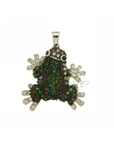 PENDANT FROG 28X28 MM IN AG TIT 925 ‰ AND ZIRCONIA