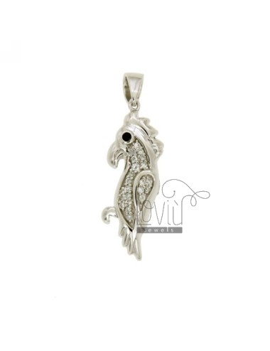 PENDANT PARROT 30X10 MM IN AG TIT 925 ‰ AND ZIRCONIA