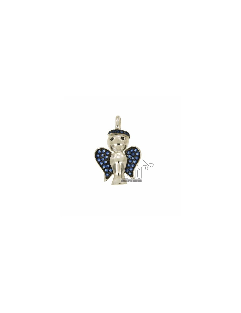 PENDANT ANGEL 29X19 MM IN AG TIT 925 ‰ AND ZIRCONIA