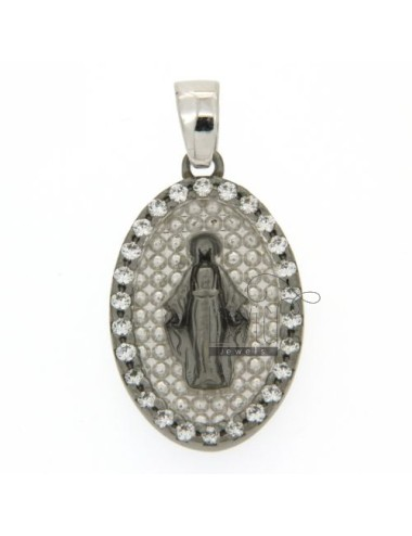 MIRACULOUS RUTENIO PENDANT IN AND INSIDE TOUR WITH RHODIUM SILVER 925 CUBIC ZIRCONIA
