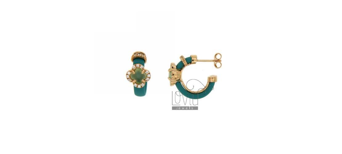 Rubber earrings