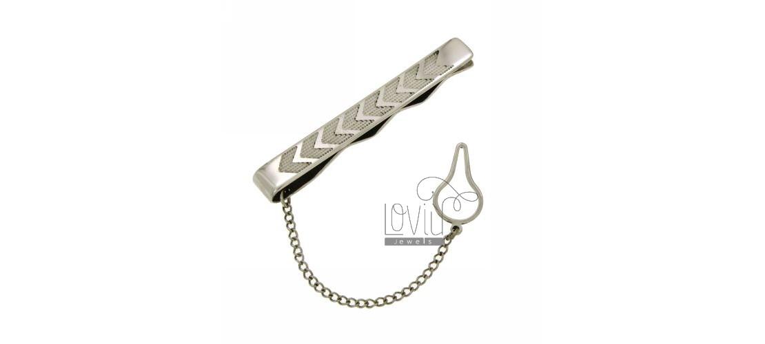 Steel tie clips